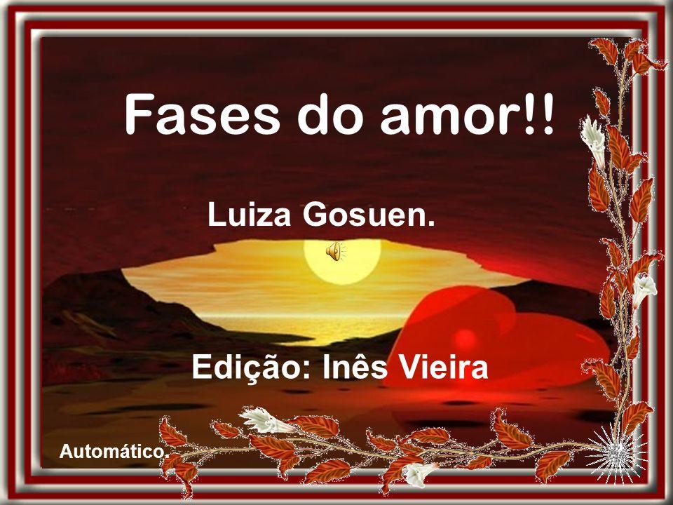 Fases do amor!! Luiza Gosuen. Edição: Inês Vieira Automático.