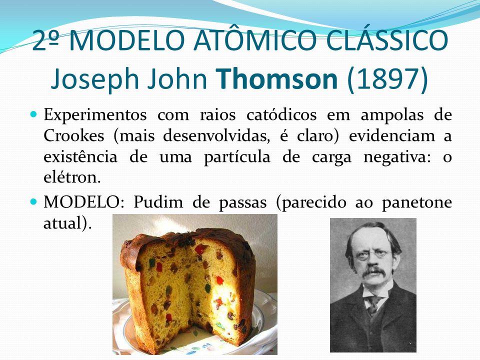 2º MODELO ATÔMICO CLÁSSICO Joseph John Thomson (1897)