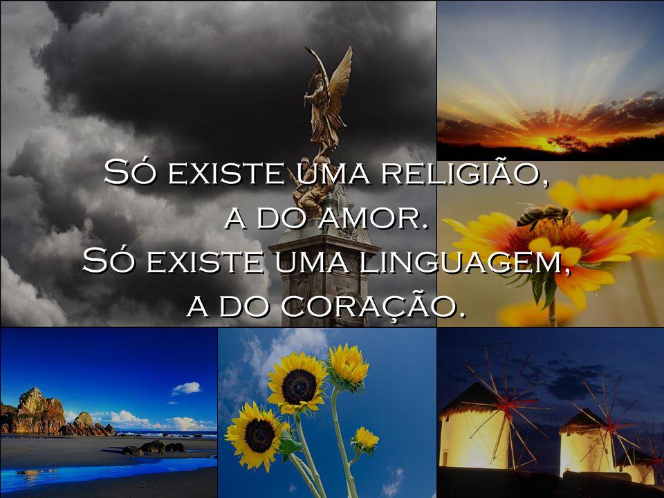 Só existe uma religião, a do amor