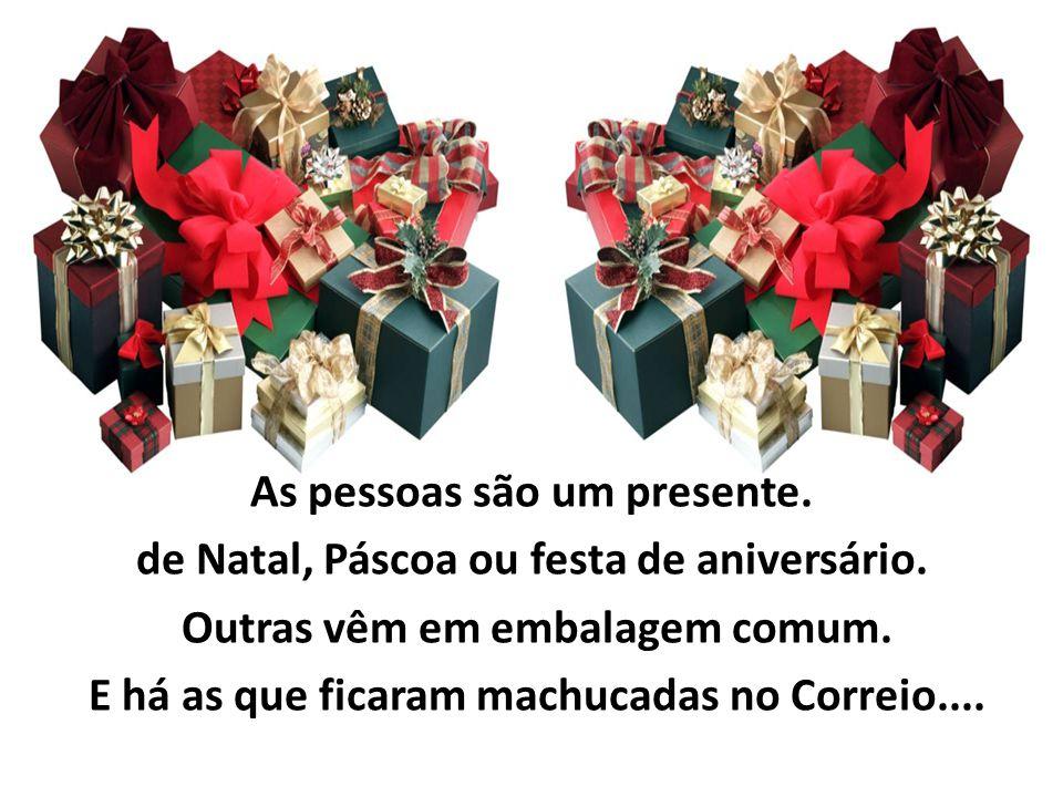 As pessoas são um presente. de Natal, Páscoa ou festa de aniversário.