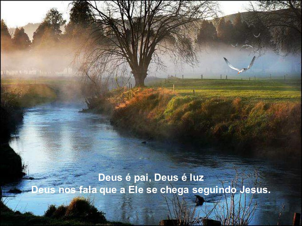 Deus é pai, Deus é luz Deus nos fala que a Ele se chega seguindo Jesus.