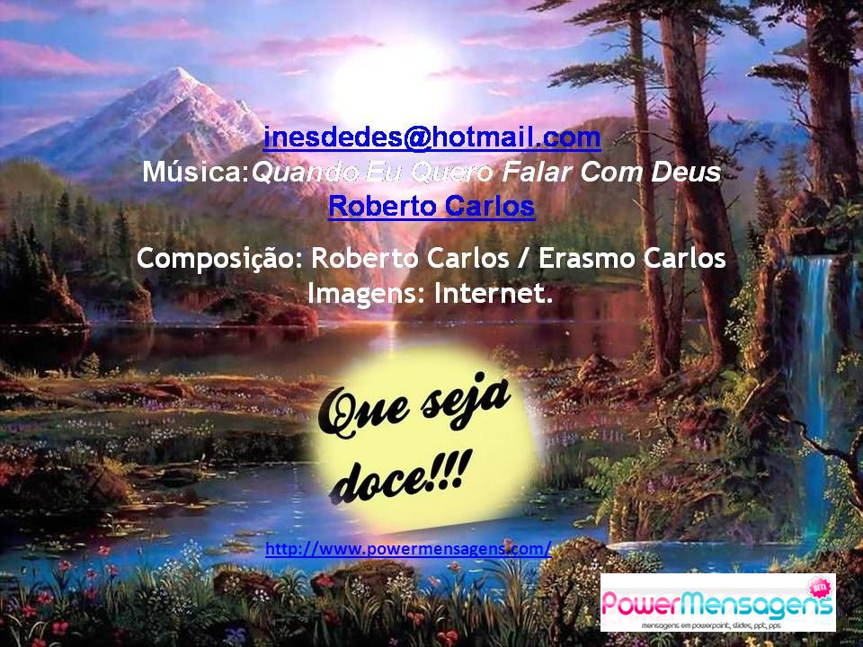 Música:Quando Eu Quero Falar Com Deus Roberto Carlos
