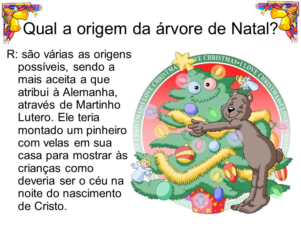 Qual a origem da árvore de Natal