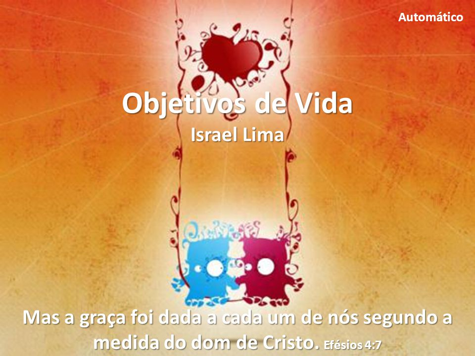 Objetivos de Vida Israel Lima