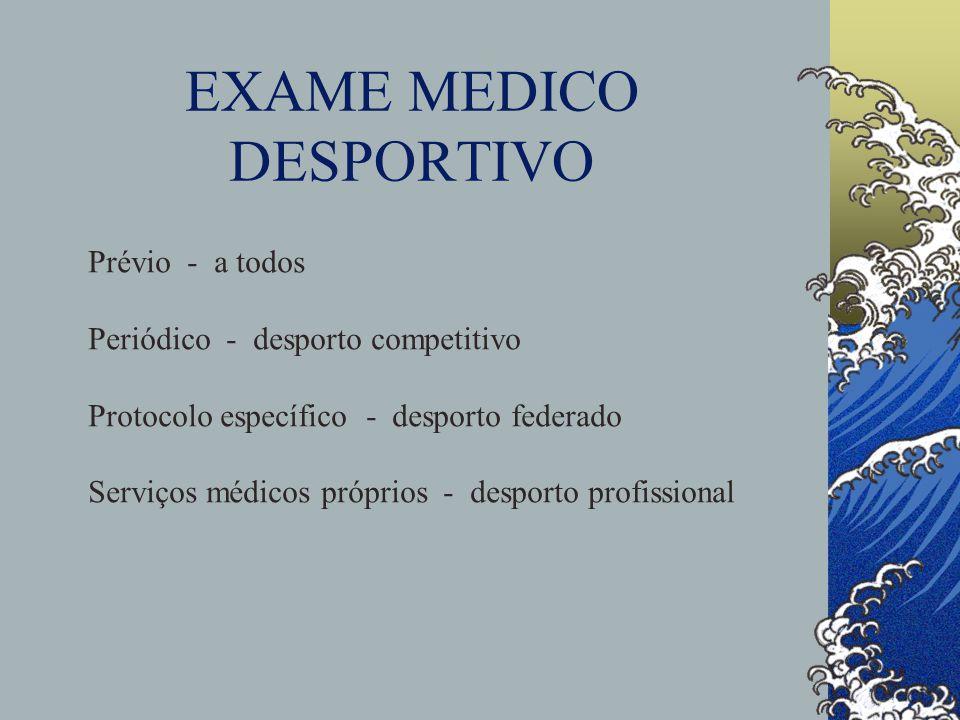 EXAME MEDICO DESPORTIVO