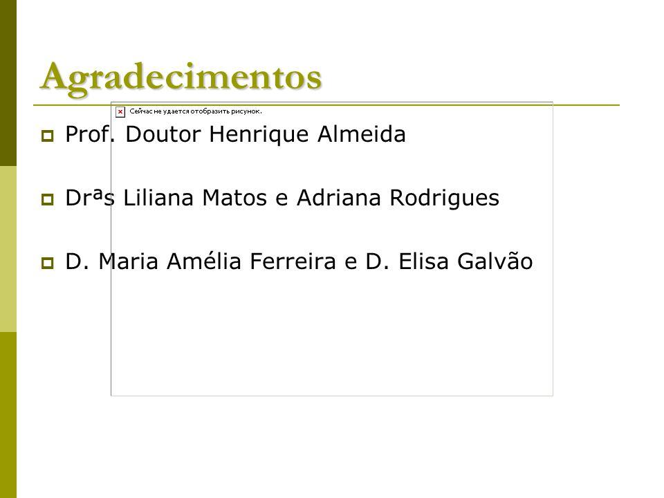 Agradecimentos Prof. Doutor Henrique Almeida