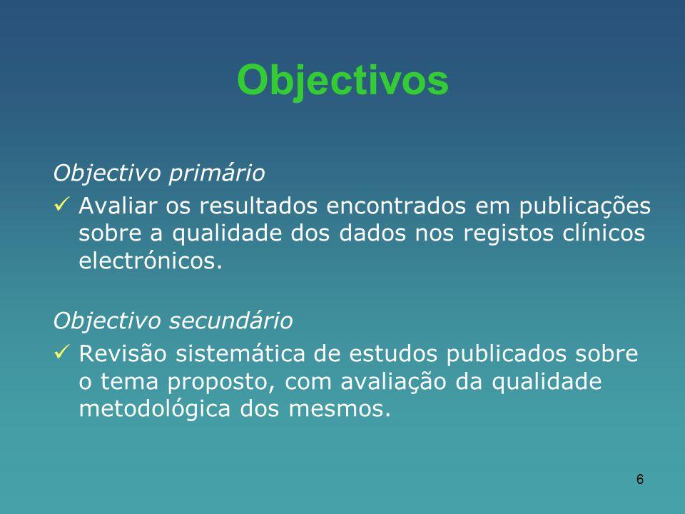 Objectivos Objectivo primário