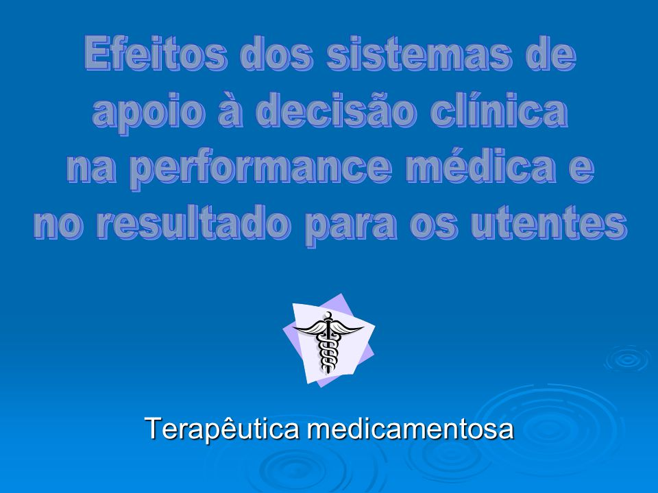 Terapêutica medicamentosa
