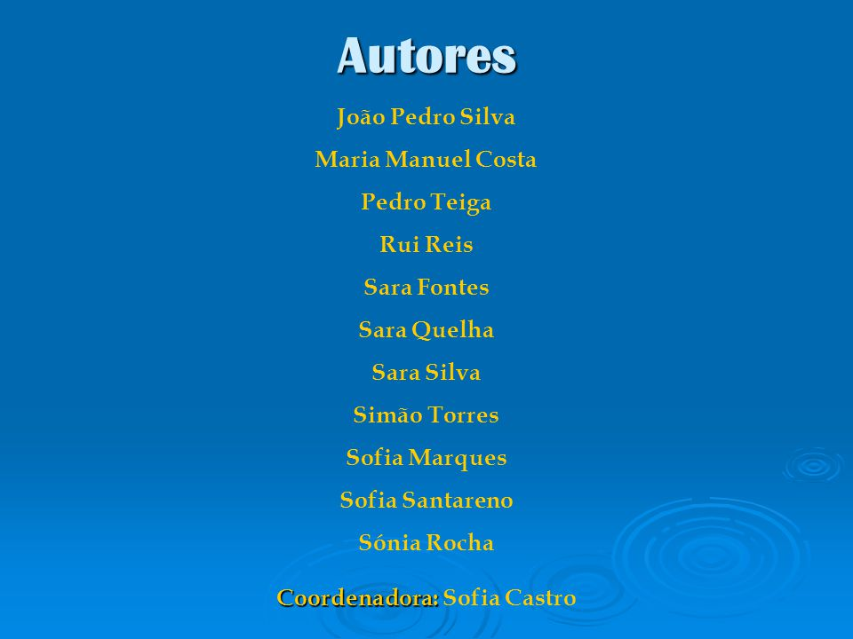 Coordenadora: Sofia Castro