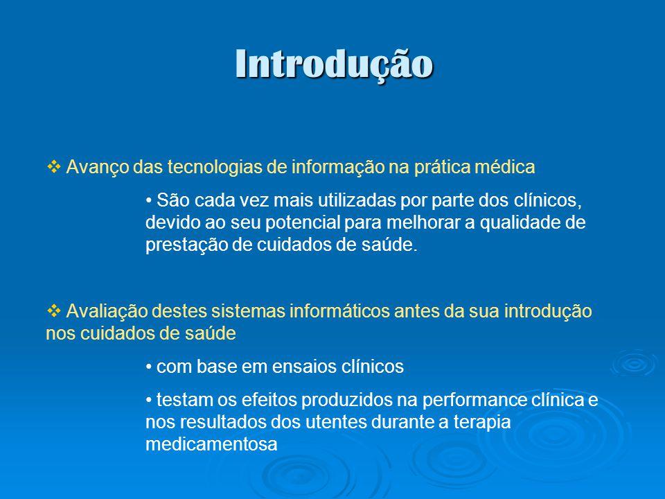 Introdução Avanço das tecnologias de informação na prática médica