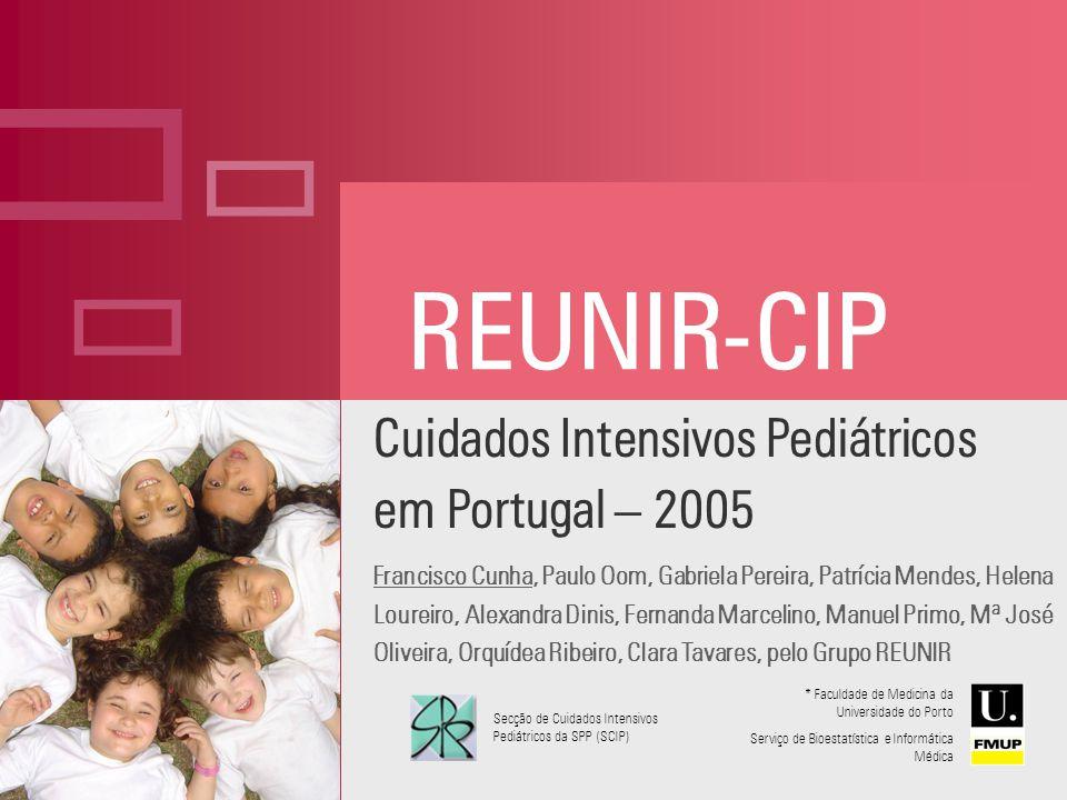 ç REUNIR-CIP Cuidados Intensivos Pediátricos em Portugal – 2005