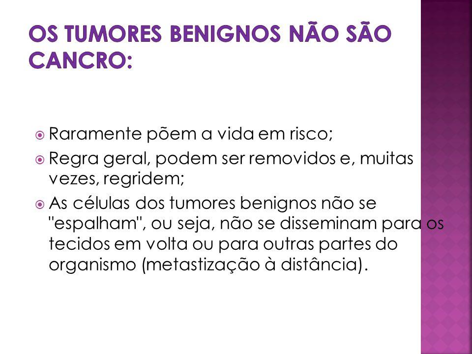 Os tumores benignos não são cancro:
