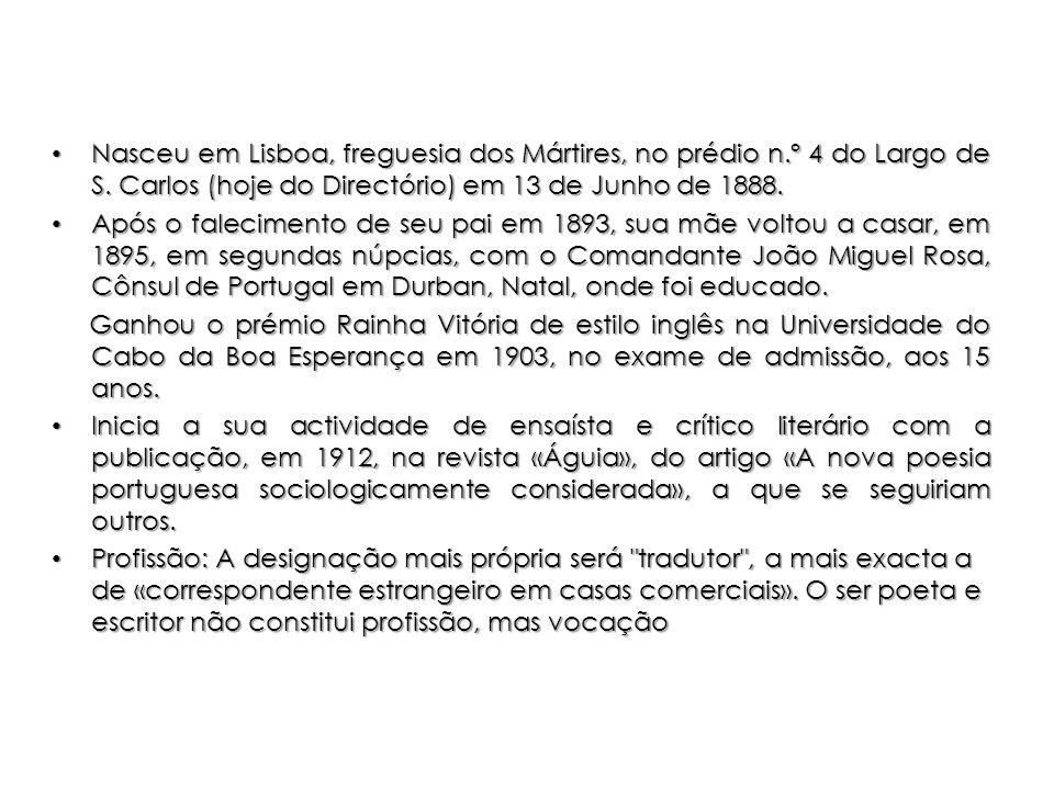 Nasceu em Lisboa, freguesia dos Mártires, no prédio n