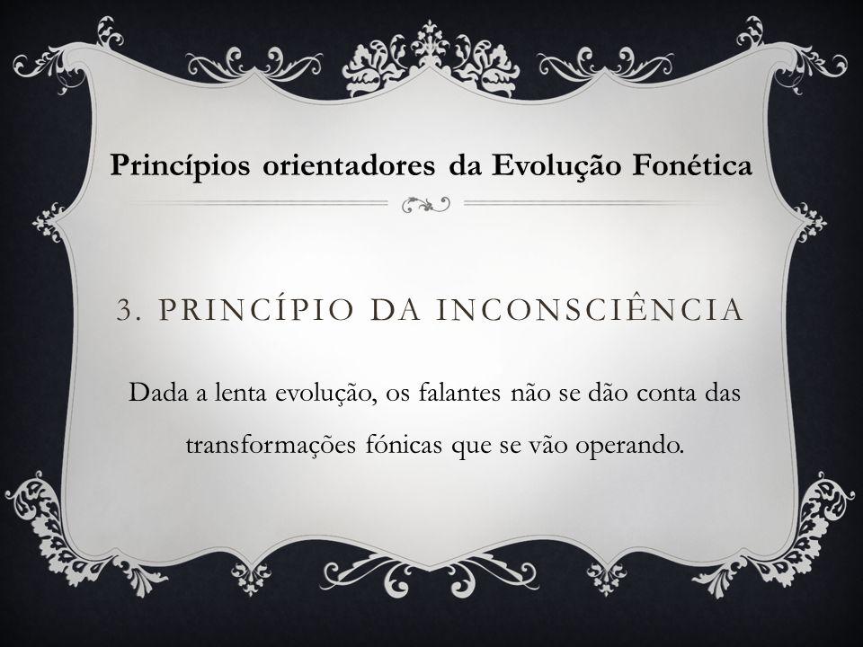 3. Princípio da inconsciência