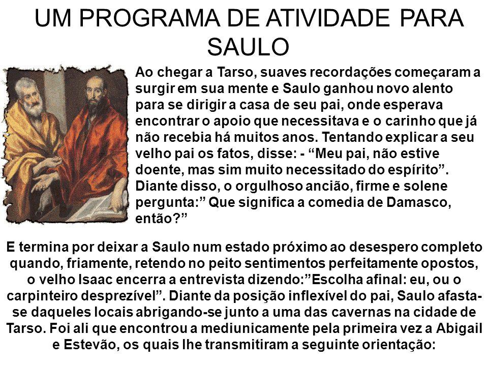 UM PROGRAMA DE ATIVIDADE PARA SAULO