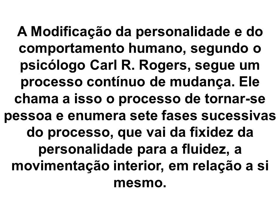 A Modificação da personalidade e do comportamento humano, segundo o psicólogo Carl R.