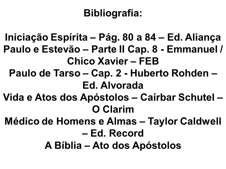 Iniciação Espírita – Pág. 80 a 84 – Ed. Aliança