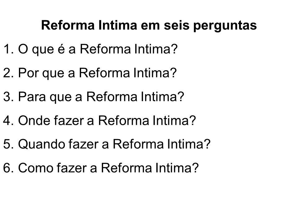 Reforma Intima em seis perguntas
