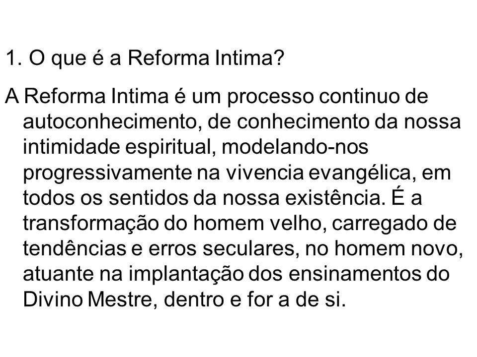 O que é a Reforma Intima