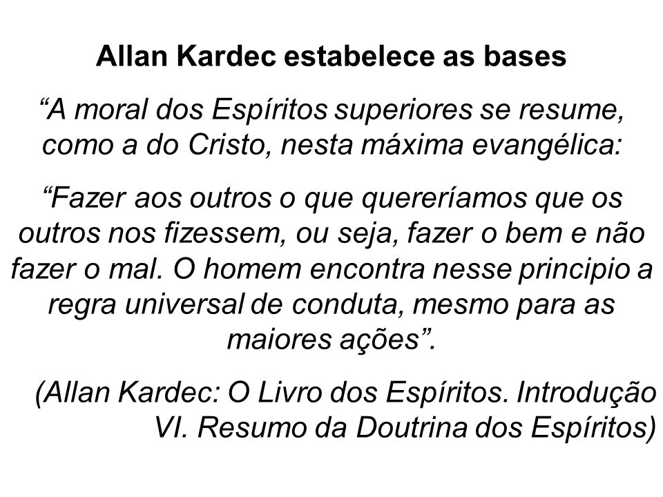 Allan Kardec estabelece as bases