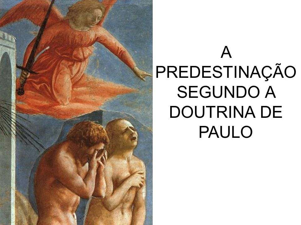 A PREDESTINAÇÃO SEGUNDO A DOUTRINA DE PAULO