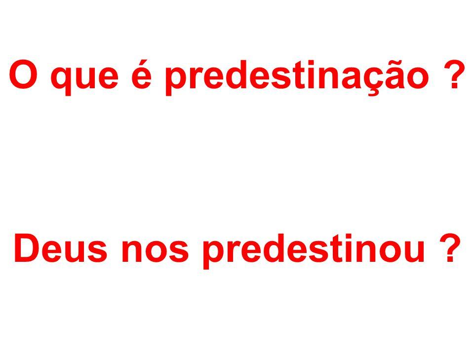 O que é predestinação Deus nos predestinou
