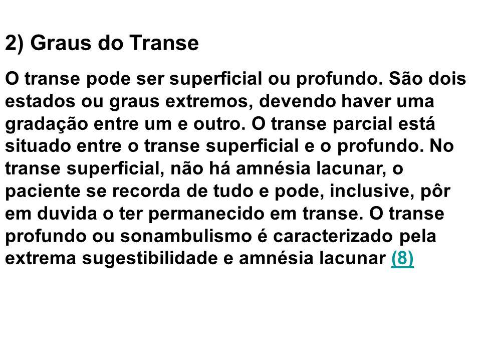 2) Graus do Transe