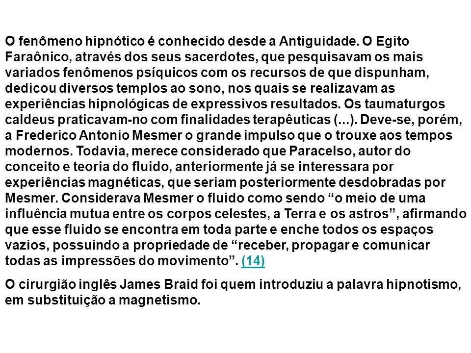 O fenômeno hipnótico é conhecido desde a Antiguidade