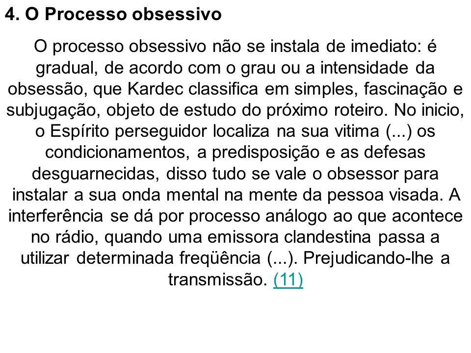 4. O Processo obsessivo