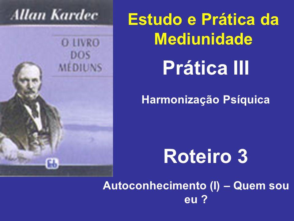 Prática III Roteiro 3 Estudo e Prática da Mediunidade