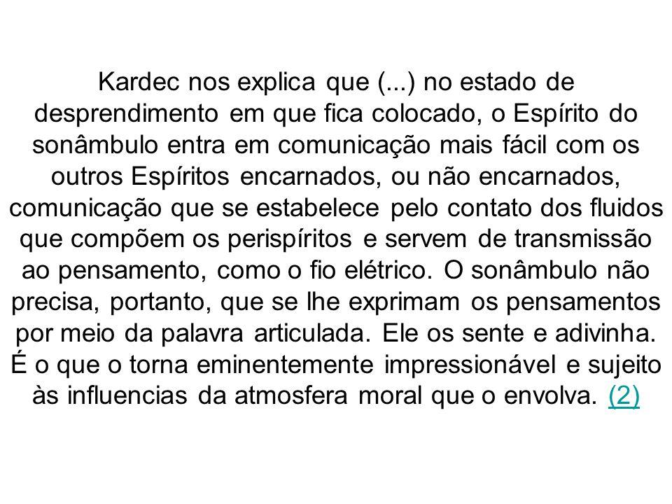 Kardec nos explica que (