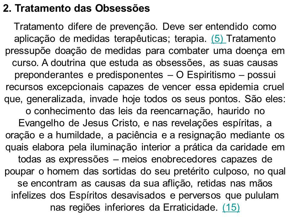 2. Tratamento das Obsessões