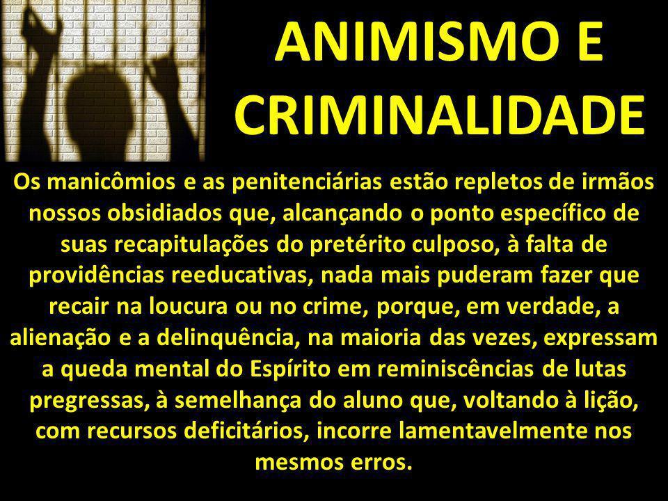 ANIMISMO E CRIMINALIDADE