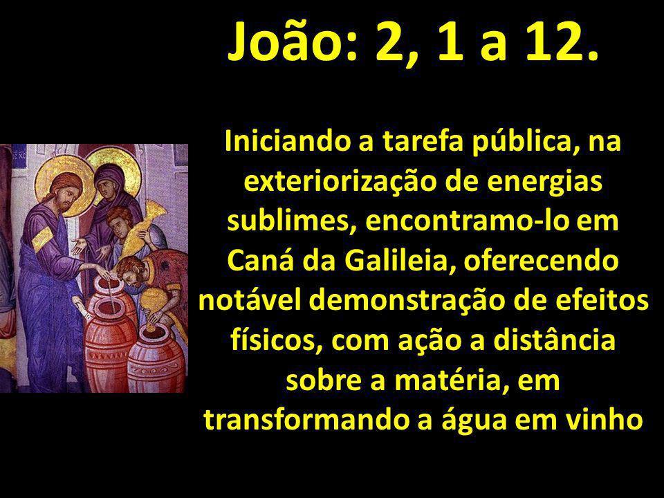 João: 2, 1 a 12.
