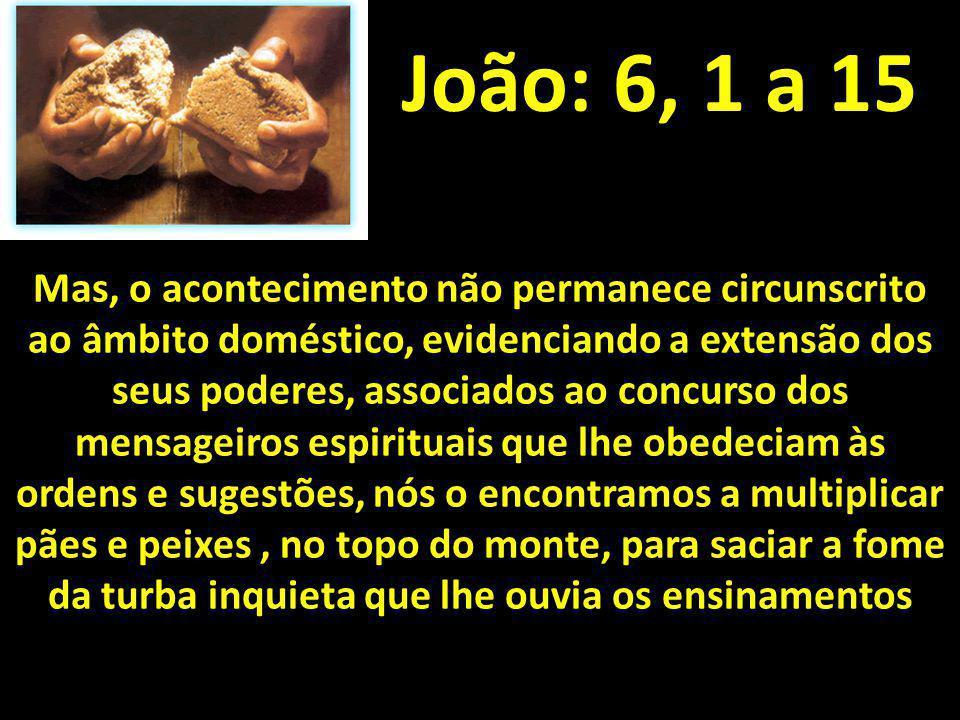 João: 6, 1 a 15