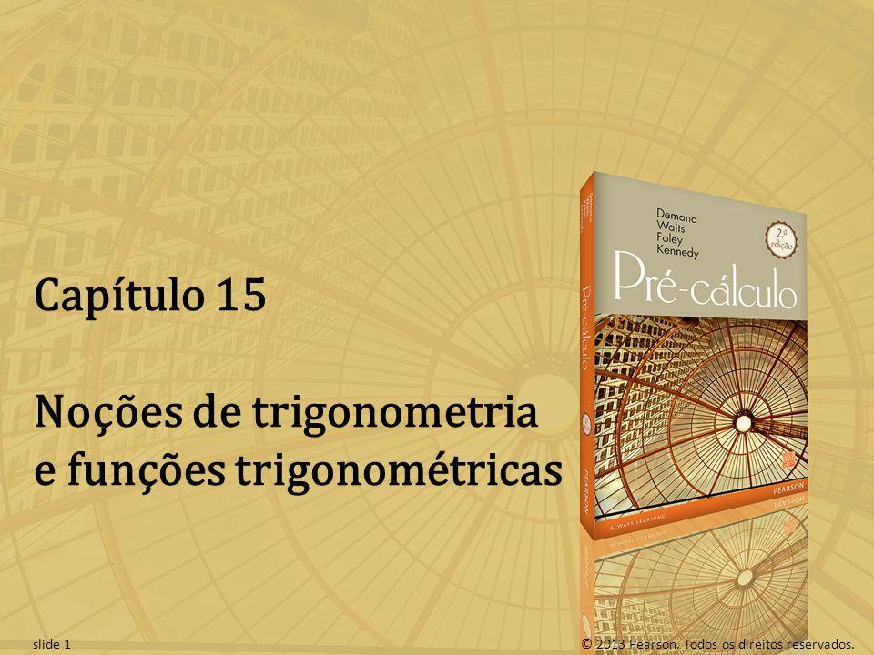 Noções de trigonometria e funções trigonométricas