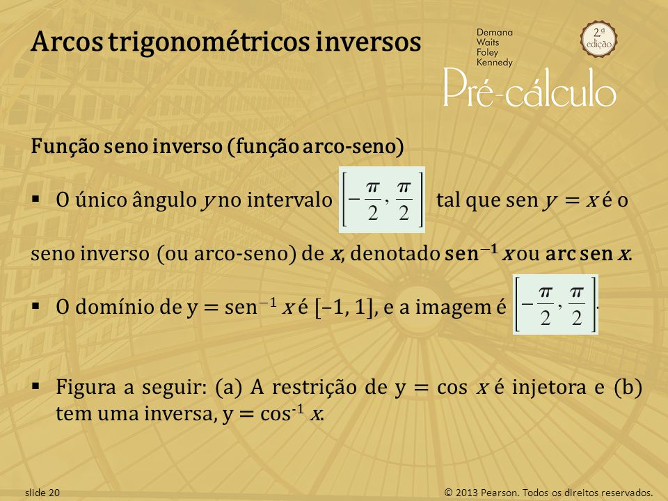 Arcos trigonométricos inversos
