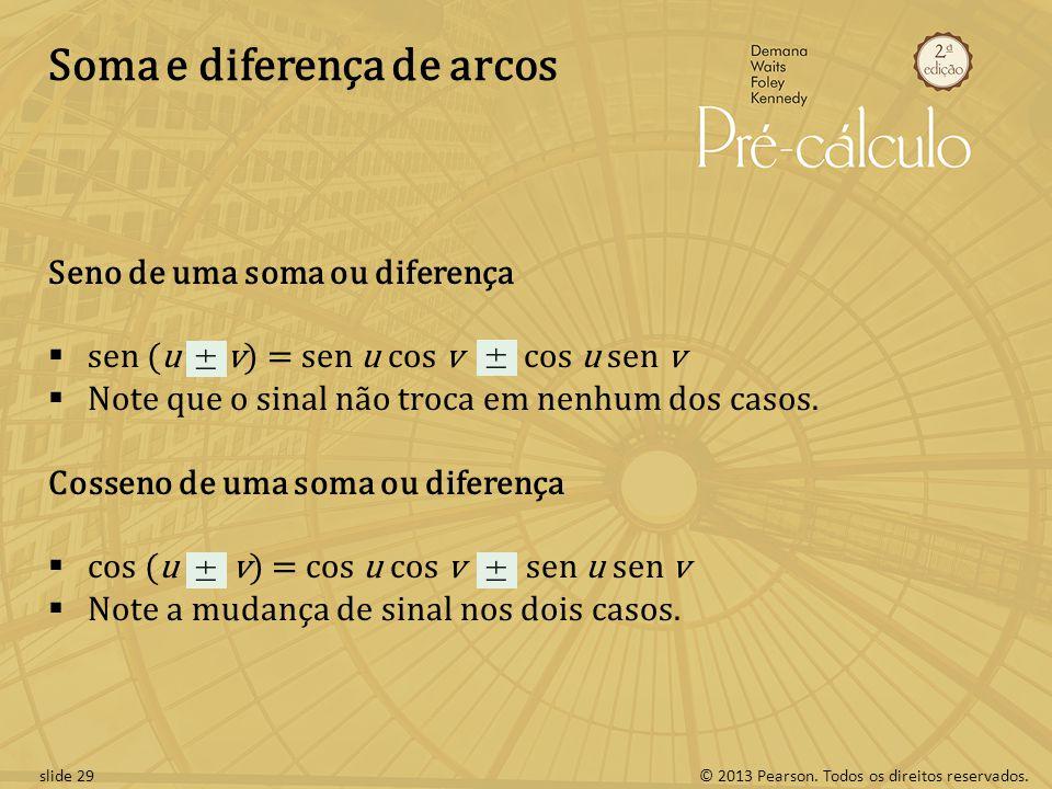 Soma e diferença de arcos