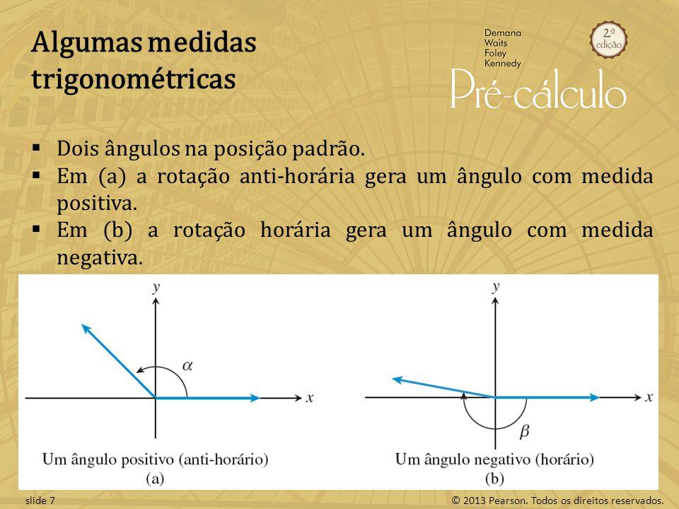 Algumas medidas trigonométricas