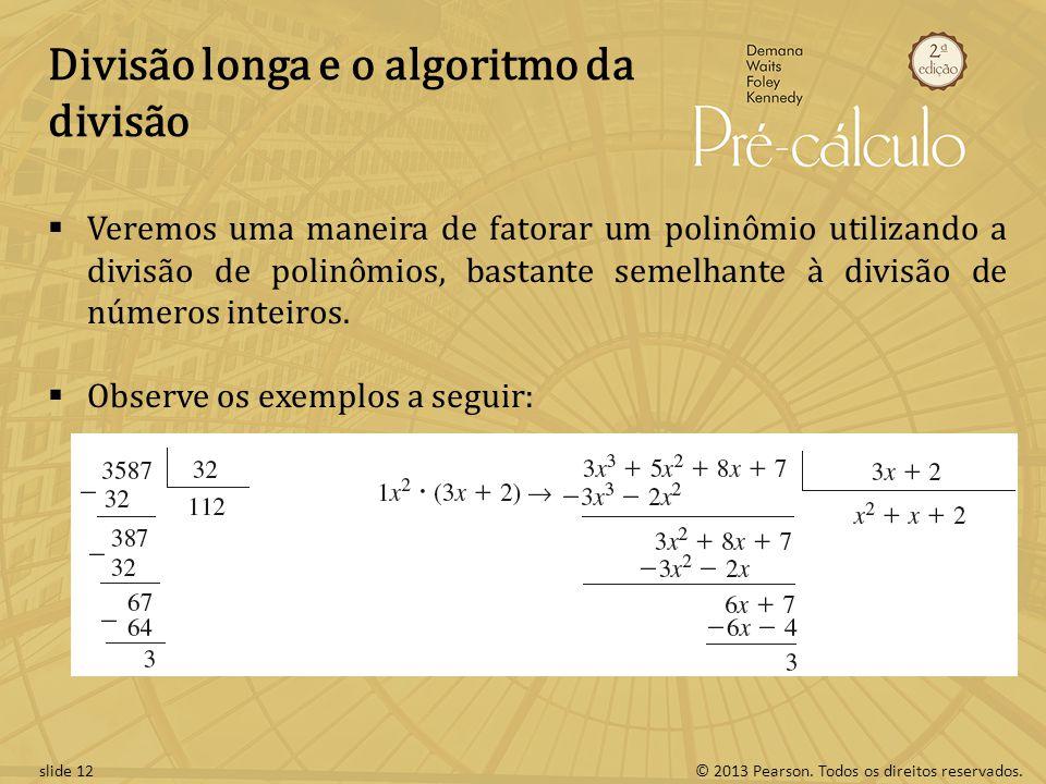 Divisão longa e o algoritmo da divisão