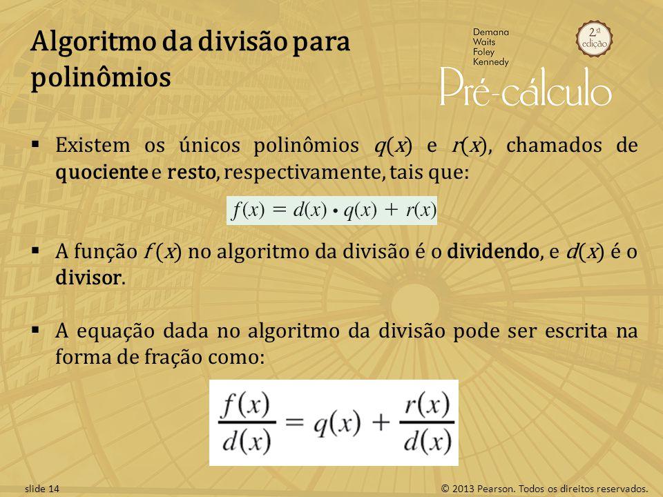 Algoritmo da divisão para polinômios