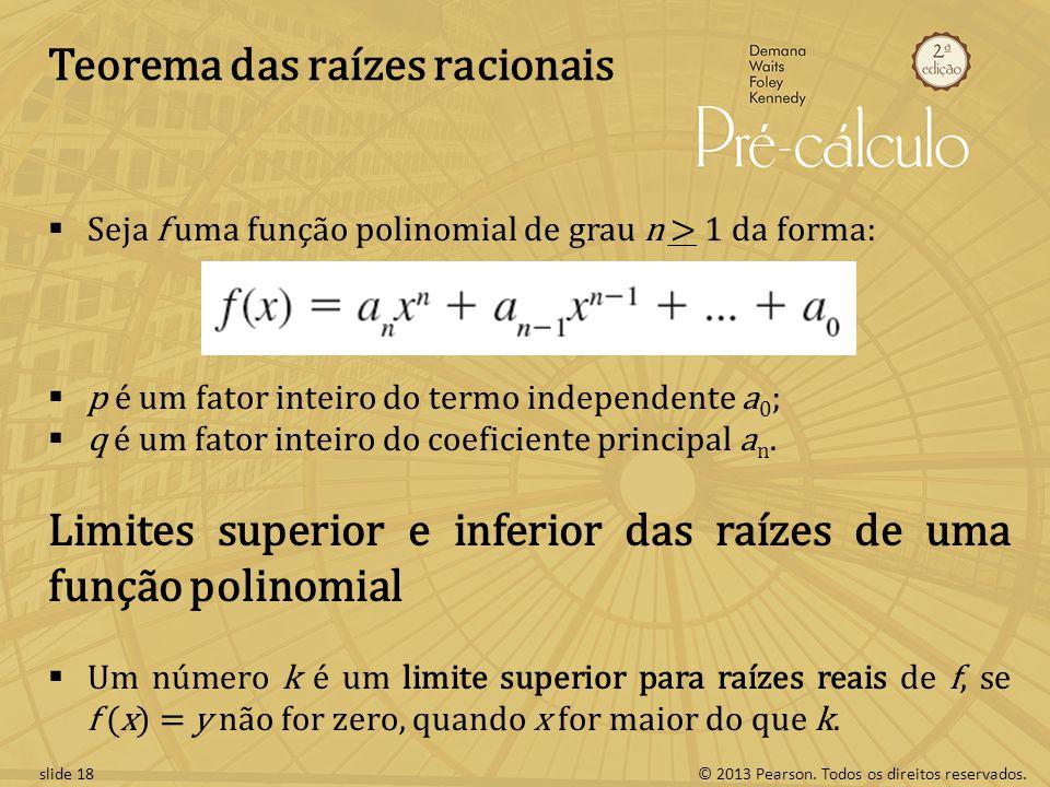 Teorema das raízes racionais