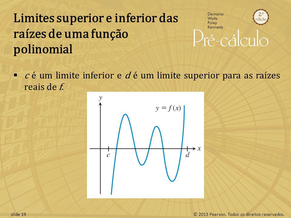 Limites superior e inferior das raízes de uma função polinomial