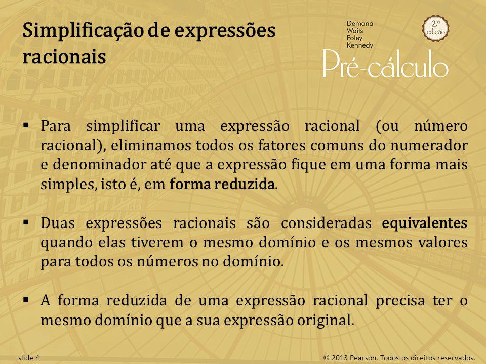 Simplificação de expressões racionais
