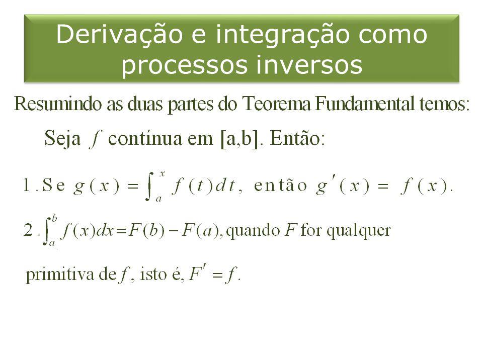Derivação e integração como processos inversos