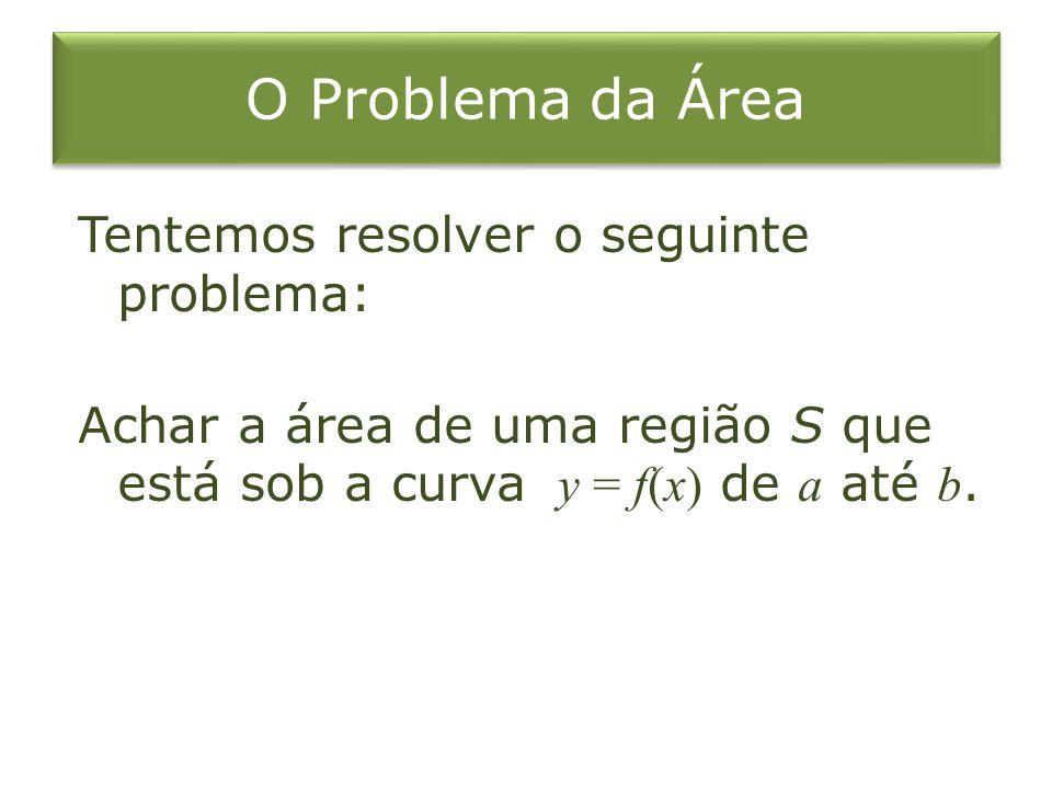 O Problema da Área Tentemos resolver o seguinte problema:
