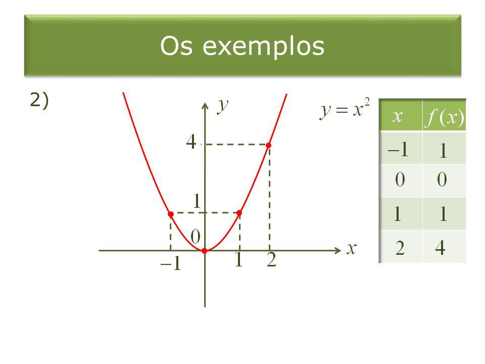 Os exemplos 2)
