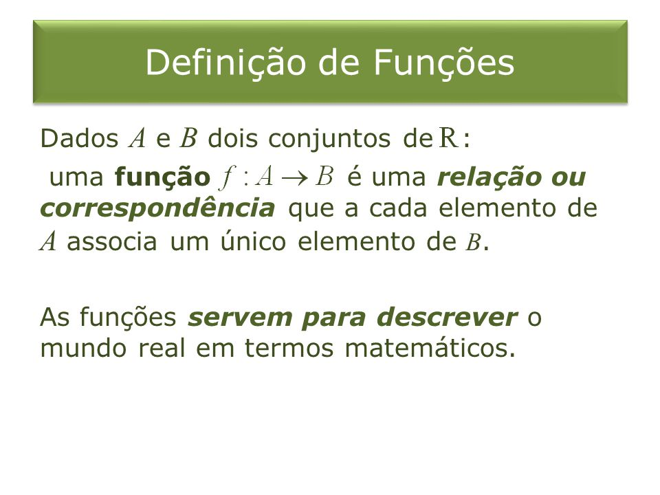 Definição de Funções