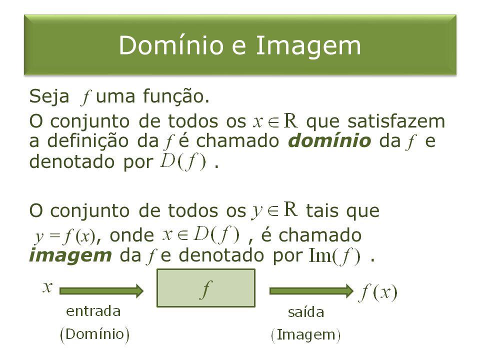 Domínio e Imagem