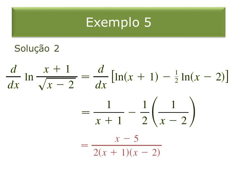 Exemplo 5 Solução 2